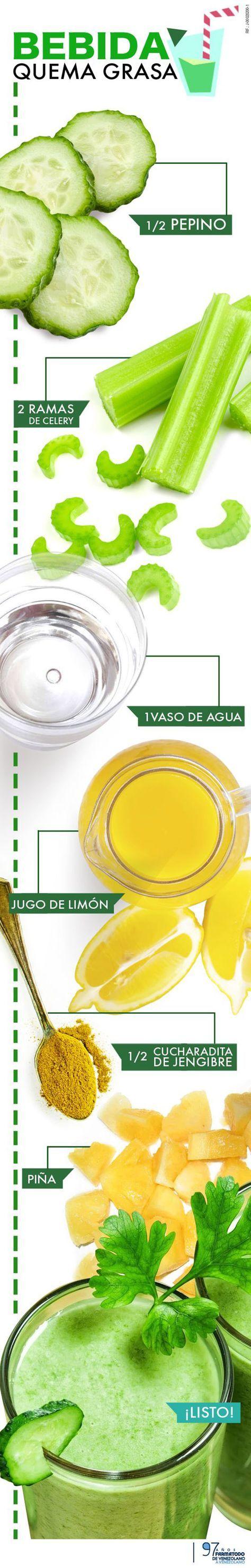 ¿Como preparar una bebida para perder peso? #perderpeso #infografía #jugosverdes
