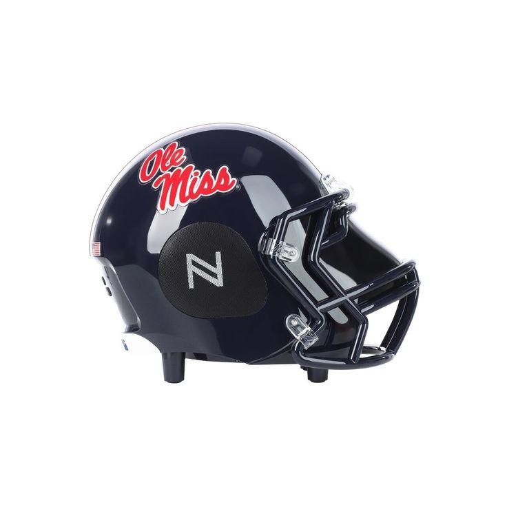 Nima Sports Official Ncaa Licensed Ole Miss Football Helmet Small tooth Speaker