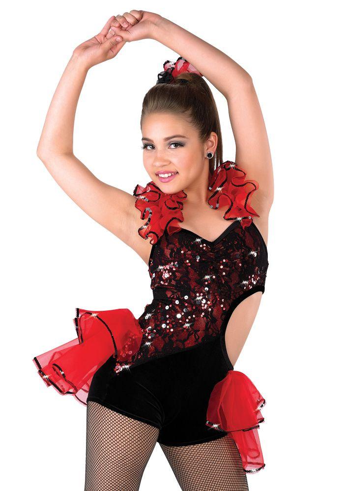 Red And Black Jazz Dance Costumes 40803 | MEDIABIN