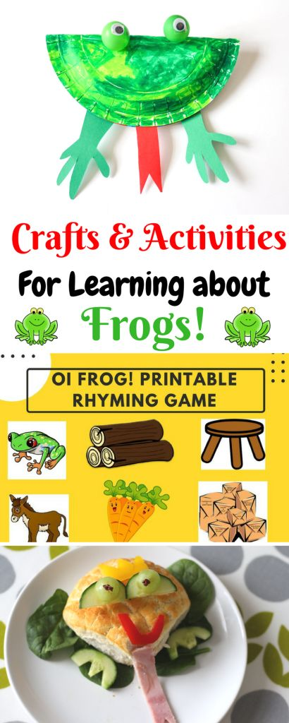 'Oi Frog!' by Kes Gray. Craft and Reading Activities.