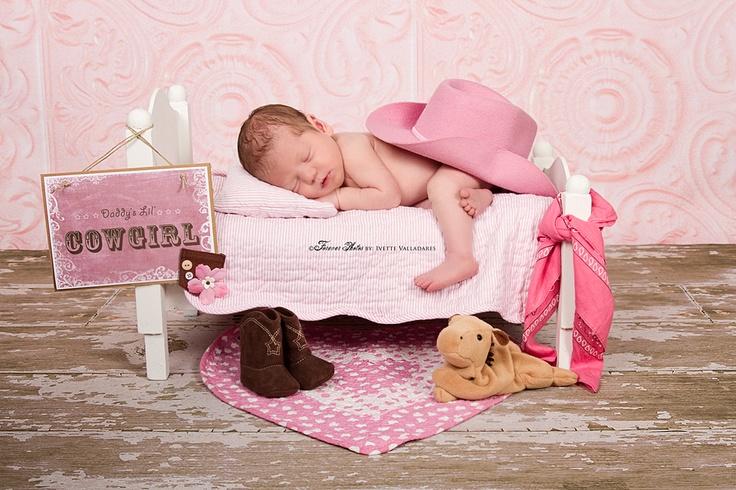 Newborn Daddy's little cowgirl