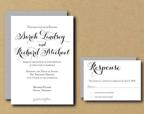 Customizable Wedding Invitation Templates: Printable Custom DIY Wedding Invitation By