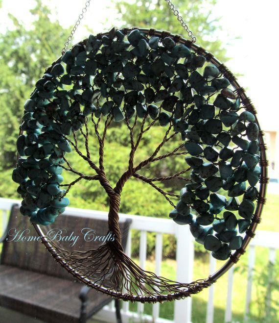 Colector solar decoración turquesa colgante de pared de