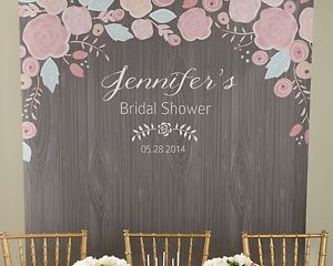 bridal shower wall | Personalized-Rustic-Bridal-Shower-Photo-Booth-Backdrop-Bridal-Shower ...