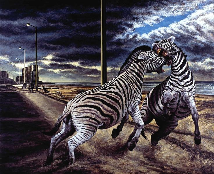 Andrea Zucchi, Ostenda, 2009, olio su lino, cm 180x220.