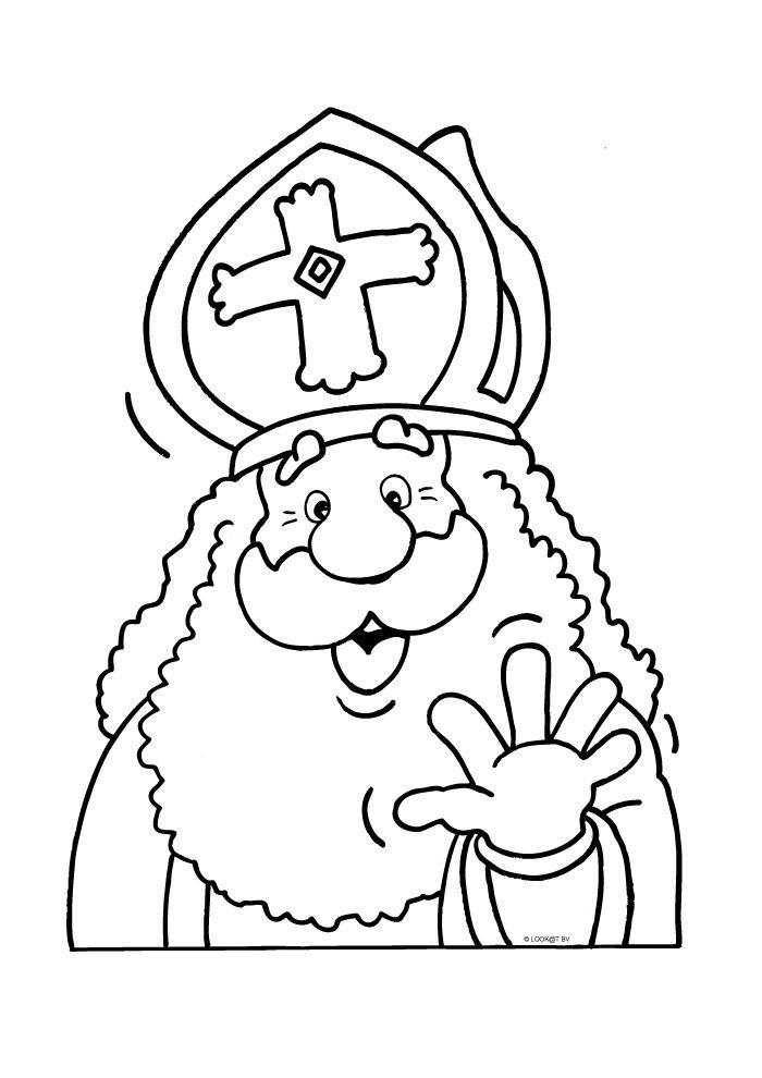 Sinterklaas zwaait