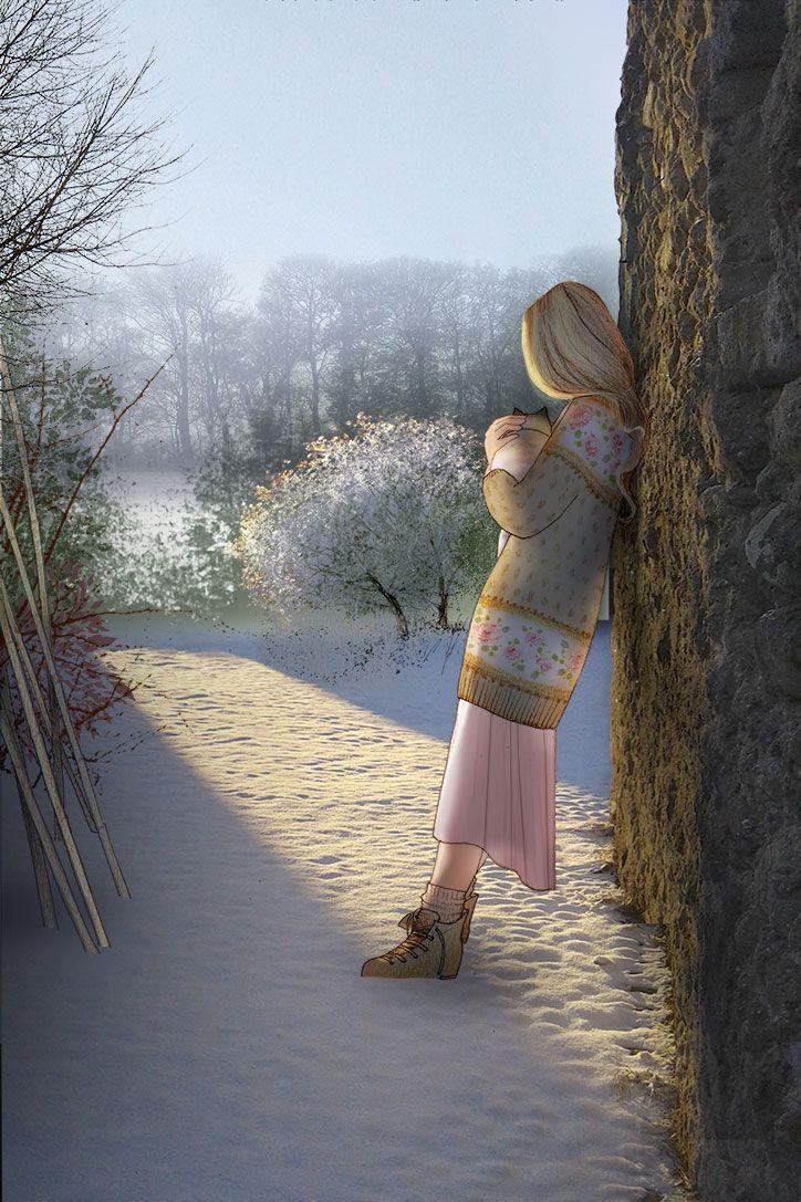 Neve all'alba. Pen + soft pastels + Photoshop. #illustration #illustrationart #art #artwork #poetry #drawing #bettinabaldassari #light #winter #inspiration #snow #february #febbraio #cat #peace #animallovers #white #morning