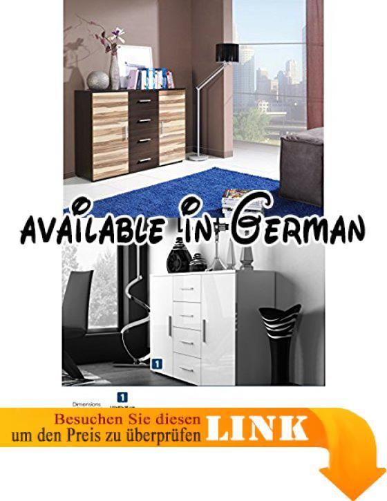 B00nlhwe9y Universal Modern Hochglanz Uni Kommode Sideboard