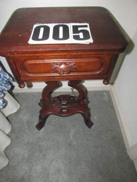 Davis Cabinet C. Music Note Style Side Table (cherry)   SOLD! DryerAntique  FurnitureWasherMurfreesboro TennesseeSide ...