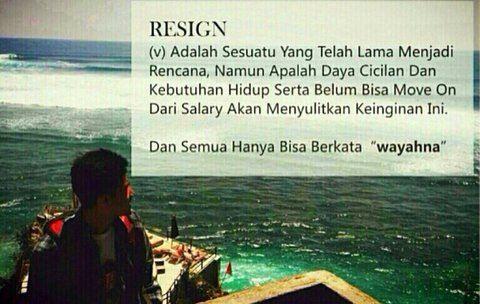 Resign (v)
