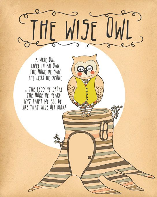 Owl Print Woodland Decor Owl Quote Print Owl by ParadaCreations, $19.00 - office