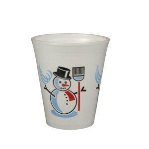 Papstar 50 Tasses – Thermo Mug – «Bonhomme De Neige» – 0,2 L Ø 7,9 Cm 9,1 Cm – Boissons Chaudes (Vin Chaud, Café, Thé) – Gobelets…
