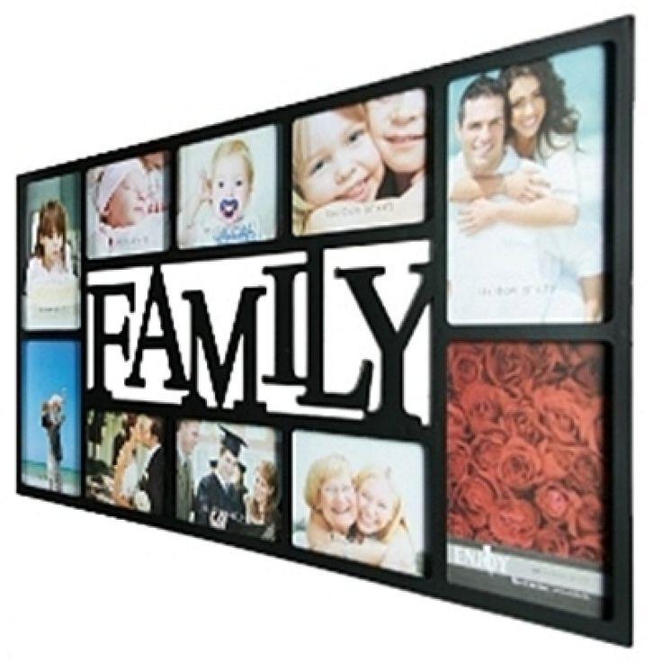 Képkeret Family\r\nLátványos, nagy műanyag képkeret, Family. A képkeretben kiválóan mutatnak a fotók a családról vagy kis gyermekről. A keretbe 4 darab 13 x 18 cm valamint 6 darab 10 x ...