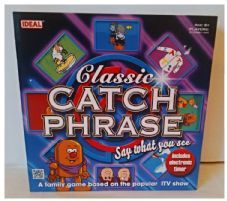 CLASSIC CATCHPHRASE - BOARD GAME - FAMILY PARTY TV GAME SHOW - CATCH PHRASE - 100% COMPLETE - VGC - 1 PACK OF SEALED CARDS