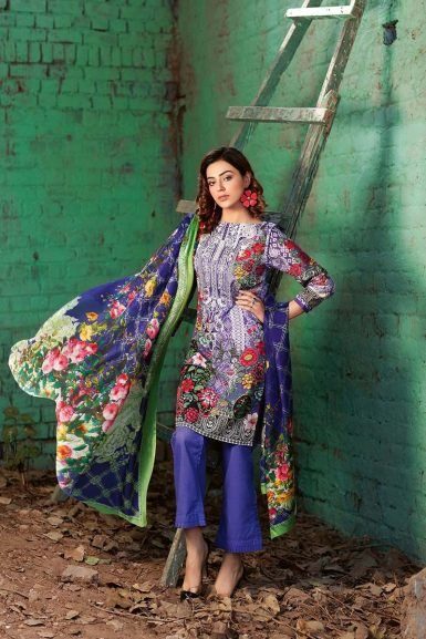 f3252f86aa Gul Ahmed Summer Embroidered Lawn Dresses Collection 2019 | kami ...
