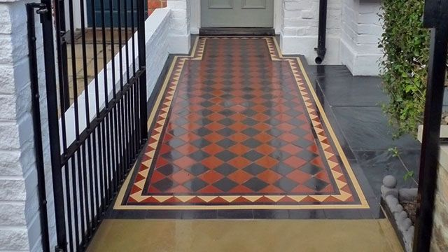 Gallery of Tile Installations   Photos of Victorian Floor Tiles   London Mosaic