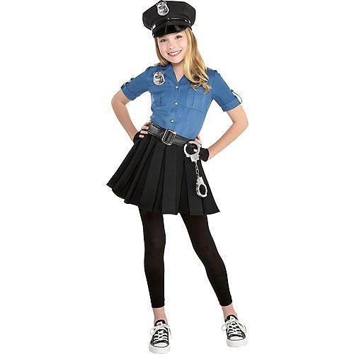 Girls Officer Cutie Cop Costume Party City   Halloween ...