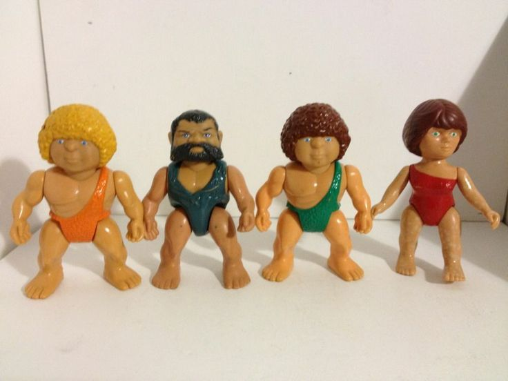 Lot 1987 Playskool Definitely Dinosaurs Cave Men Action Figures