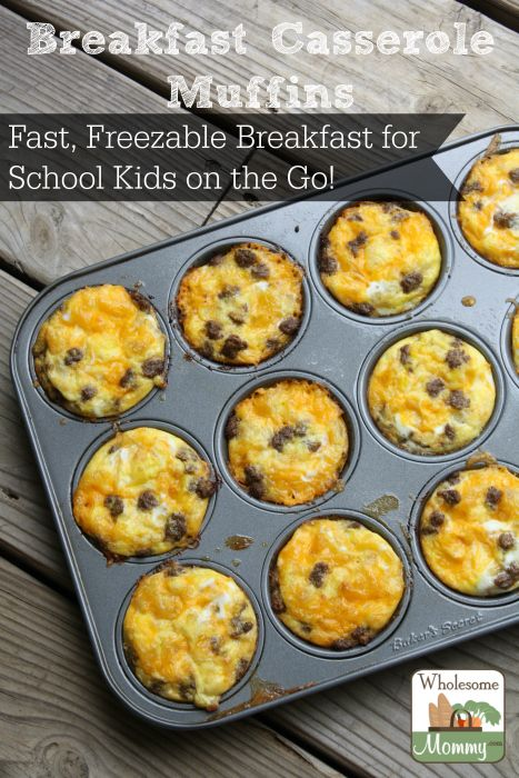 Breakfast Casserole Muffins for Quick, Freezable, On the Go Breakfasts!