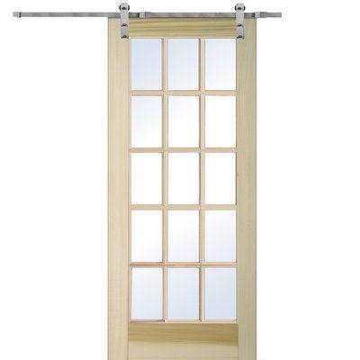 Verona Home Design Glass Barn Door With Installation Hardware Kit Hardware Finish Stainless Steel Size 36 X 80 Glass Barn Doors Interior Barn Doors Sliding Door Hardware