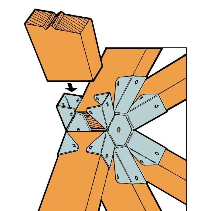 Simpson Strong Tie GT6Z 16gauge Gazebo Tie Geodesic