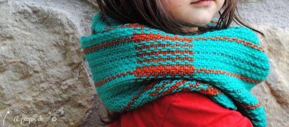 Handwoven baby girl-scarf or infinity scarf? handmade by Atelier Faggi Italy #weaving #handweaving #weaving-techniques #weaving-patterns #atelierfaggi