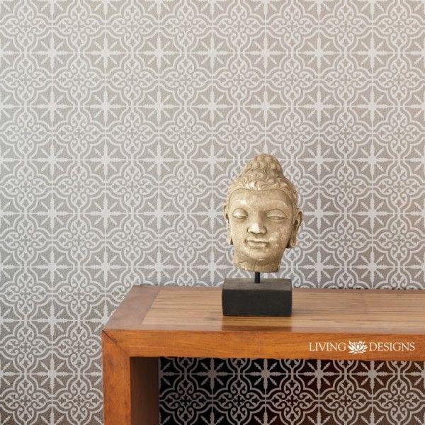Plantilla decorativa para pintar paredes con efecto papel - Pintar paredes con efectos ...