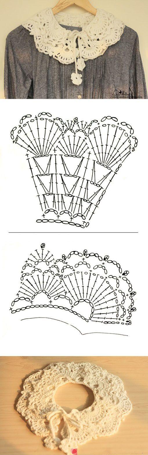 Peter Pan crochet collar pattern                                                                                                                                                                                 More