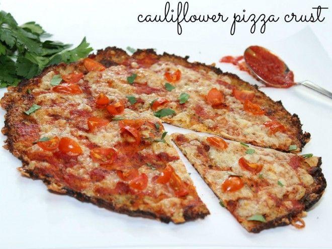 Cauliflower pizza crust recipe - great way to sneak in veggies!