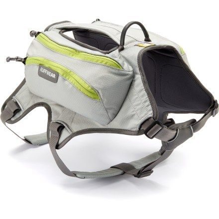 Ruffwear Singletrak Hydration Dog Pack. Good for hot summer hiking, light breathable
