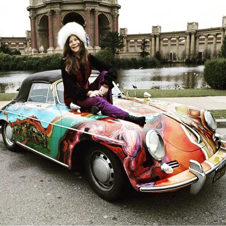 Janis Joplin and her psychedelic 1965 Porsche Type 356C