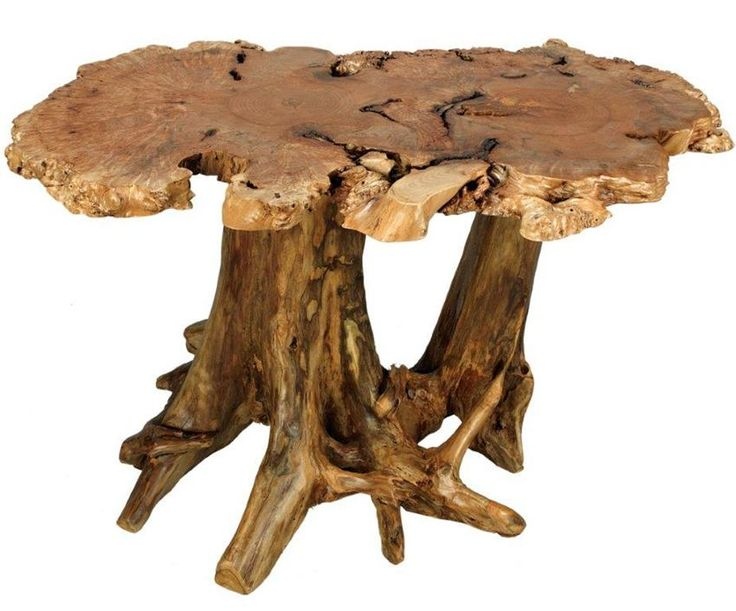 Amish Rustic Burl Dining Table With Stump Base Ima Take