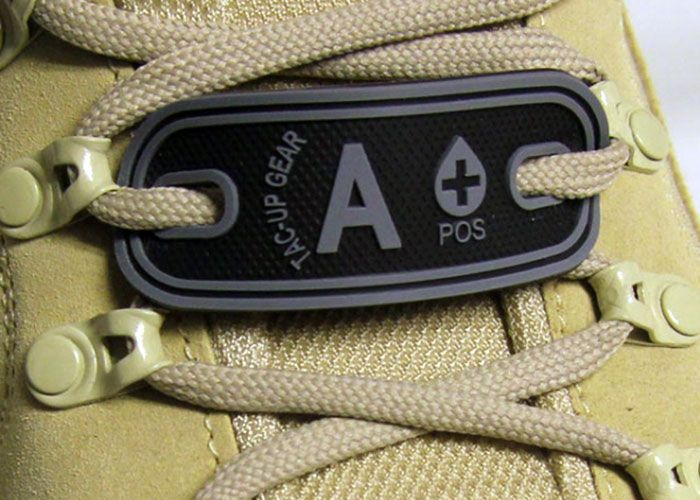 New Tac-Up Gear Blood Type PVC Tags