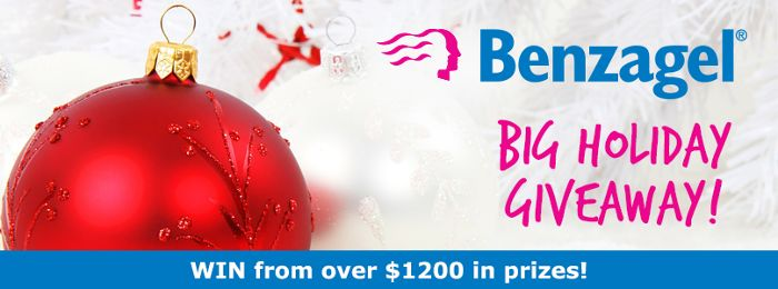 The Benzagel Big Holiday Giveaway is here! We're giving away 25 prizes in Canada and we want you to be a winner!