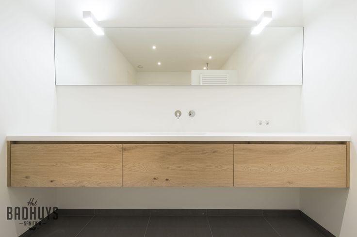 25 beste idee n over minimalistische badkamer op pinterest modern badkamerontwerp - Eigentijdse badkamer grijs ...