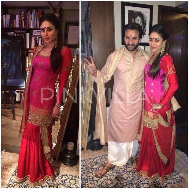 Kareena Kapoor Saif Ali ~ Khan celebrate #Diwali in brilliant @sabya_mukherjee ensembles sabyasachi.com