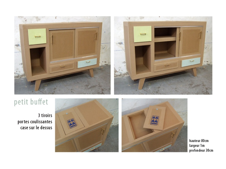 134 best meubles cartons images on Pinterest Cardboard furniture