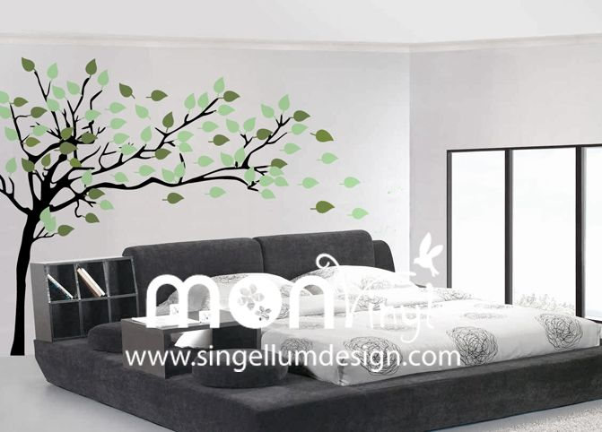 Vinilo arbol de invierno vinilos decorativos vinilos for Vinilo habitacion matrimonio