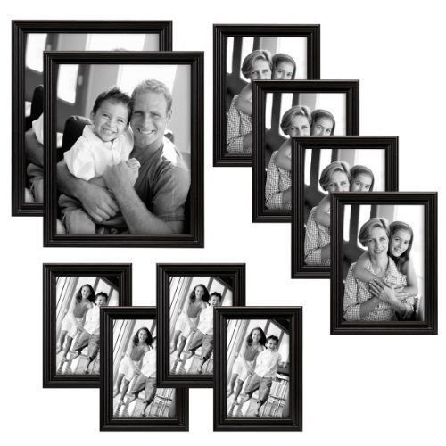 10pc Picture Photo Frame Set Two 8x10 Four 5x7 Four 4x6 Black Wall Decor Mcs Multiple Picture Frame Frame Set Picture Frame Sets