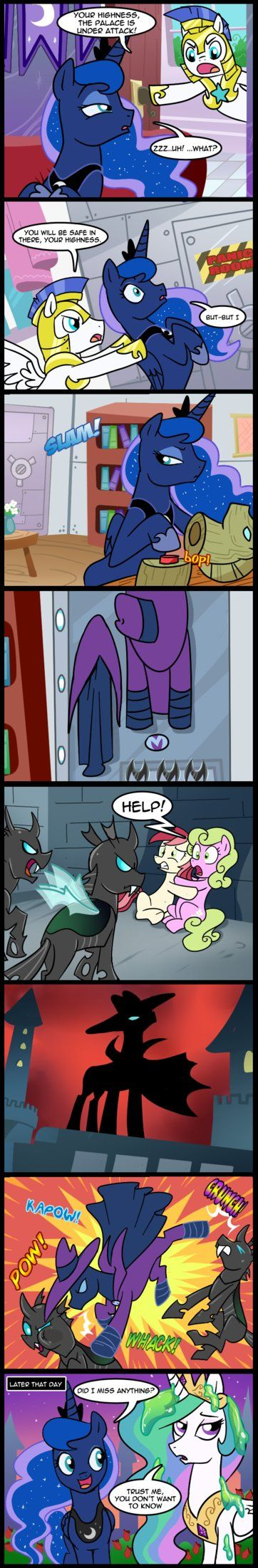 MLP: Didn't miss anything (Commissioned) by tan575 on DeviantArt