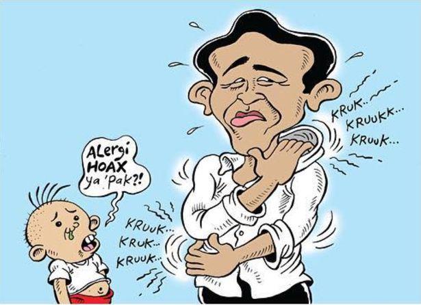 Mice Cartoon: Alergi Hoax -  Karya: Muhammad Misrad -  Sumber: Rakyat Merdeka - 4 Januari 2017