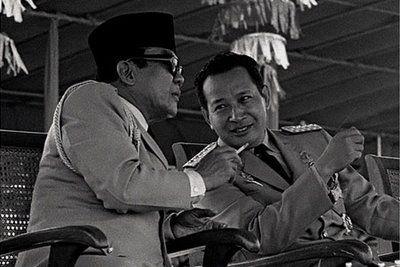 Soekarno & Soeharto, the 1st & 2nd President Republic of Indonesia