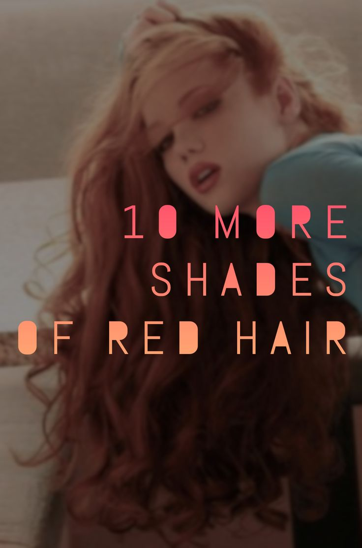 Red hair is ultra trendy right now - but which shades of red hair should you pick? What is the difference between crimson red and...