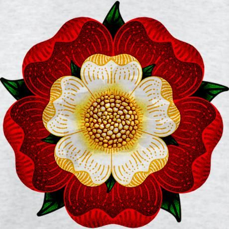 Tudor rose.                                                                                                                                                                                 More
