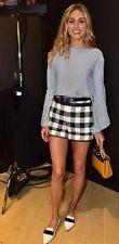 ZARA Blue Plaid Checked Dressy Shorts Sz S Olivia*Palermo SOLD OUT