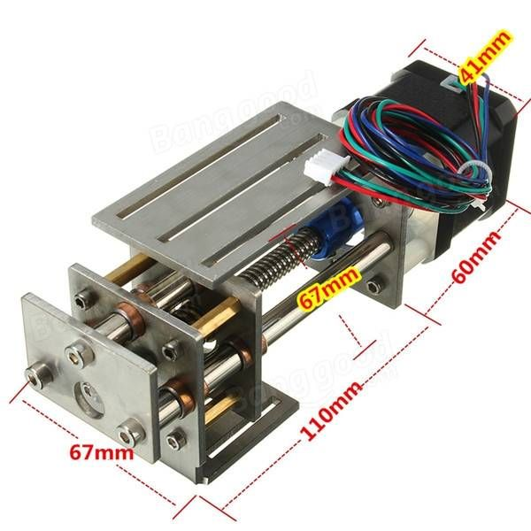 CNC mesa eje z de diapositivas de 60 mm de fresado bricolaje movimiento lineal máquina de grabado de 3 ejes