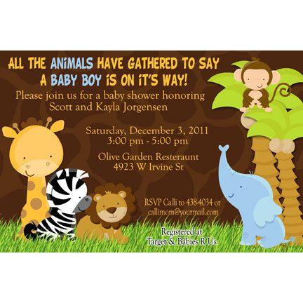 Jungle Safari Baby Shower Party Invitations by LilyPadInvitations, $10.00