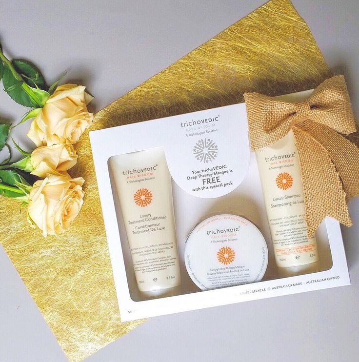 Luxury Trio Pack- an essential gift pack for dry and damaged hair. #trichovedic #hairwisdom #luxuryhaircare #christmasgift