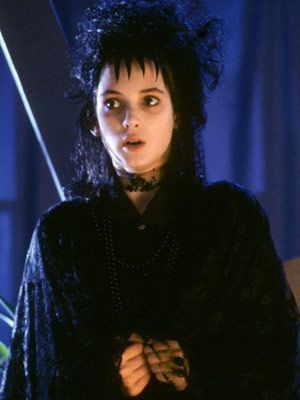 Winona Ryder as Lydia Deetz  Beetle Juice (1988): Lydia's Goth-chic look was endlessly copied by angsty youth across the nation.