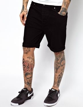 ASOS Denim Shorts In Slim Fit Mid Length